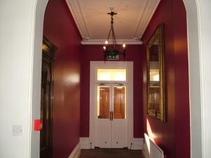 The corridor to the garden exit